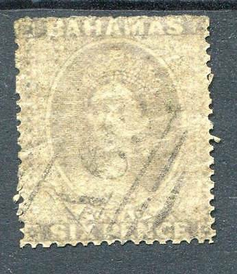 Bahamas 1861-62 rough perf 14-16 6d grey-lilac SG6 used cat £600