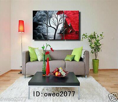 Asian style Modern Abstract Huge Art Oil Painting Canvas Large Tree gift 3P