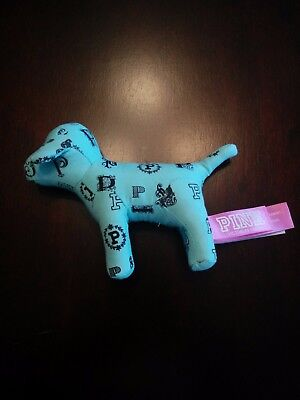 Victoria's Secret Pink mini dog, mint/light blue