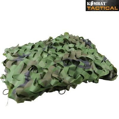 ARMY KIDS WOODLAND CAMO NET 2m X 1.5m CAMOUFLAGE BEDROOM DEN HIDING HUNTING