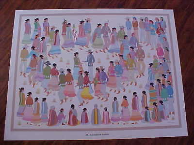 """Harrison Begay, Navajo Listed  Artist, Signed/Numbered in Pencil  """"Squaw Dance"""""""