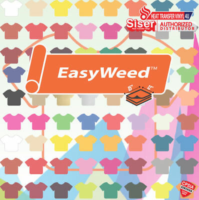 Siser Easyweed Heat Transfer Vinyl 15 Sheets (15 x 12) - SELECT YOUR COLORS!