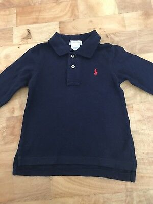 Ralph Lauren Baby Boys Long Sleeved Polo Top Age 18 Months