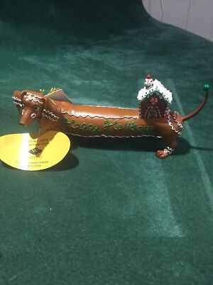 """Hot Diggity """"Gingerbread Doxie"""" By Westland # 16574"""