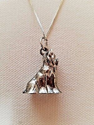 ".925 Sterling silver Pewter Necklace Yorkshire Terrier Charm Signed ""CN"""