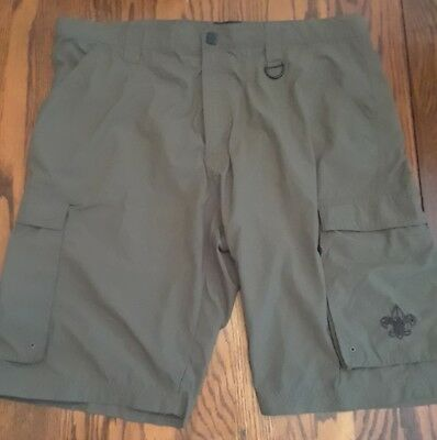 Mens Adult Boy Scouts of America BSA Centennial Uniform Shorts Green Size Large