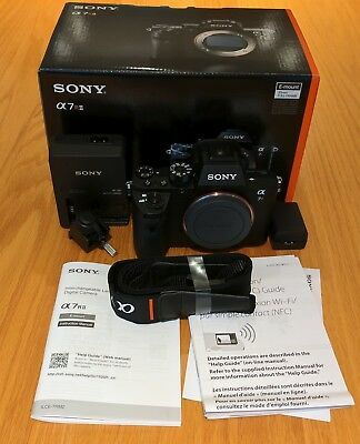 Sony Alpha a7R II 42.4MP Digital Camera - Black (Body Only) in original box