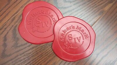 Makers Mark coasters set of 2