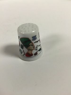 Unique Hand Made and Painted  Egyptian Ceramic Thimble  Made in Egypt