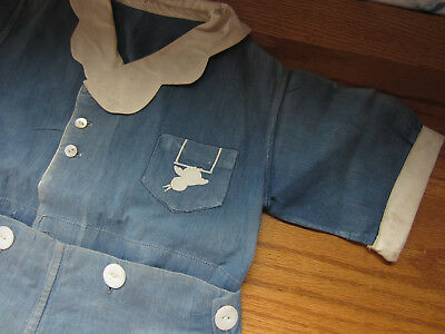 Vintage / Antique embroidered Boys Sailor Suit outfit - Wall Decor