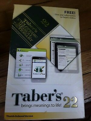 Taber's Cyclopedic Medical Dictionary 22 - Like New in the Box