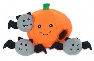 Halloween Dog Toy -.Interactive Puzzle Toy PUMPKIN. 3 x small squeak toys