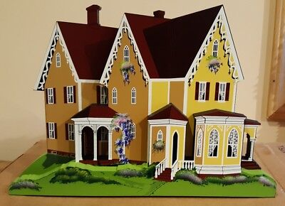 RARE Shelia's LARGE Victorian House Yellow LVH01 Hard to find!