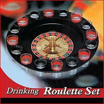 Barwench Shot Glass Roulette - Drinking Game Set (2 Balls and 16 Glasses)