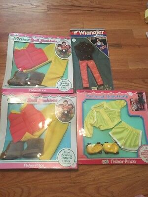 My Friend Doll Fashions Fisher-Price Sets! New In Package! Wrangler Set Also!
