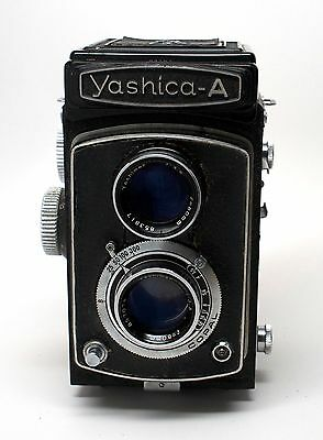 Yashica-A 120 Twin Lens Reflex TLR Vintage Camera #64167