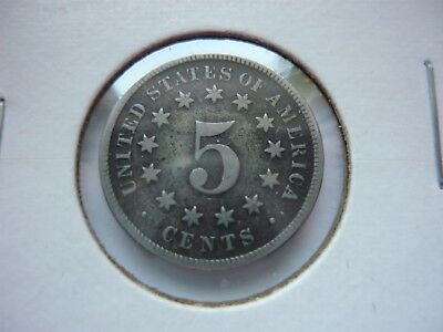 1875 Shield Five Cent Nickel
