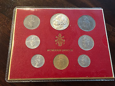 * VATICAN COIN SET 1973 / Papal Mystery Money / Roma Unusual / MINT UNC Coins *