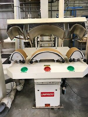 Unipress 3TZ COLLAR and CUFF PRESS, Good Working Condition