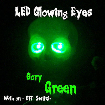 Led Glowing Eyes Halloween Green 5Mm 9V On/off Switch