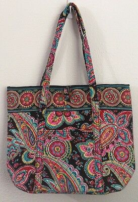 NWT VERA BRADLEY Pleated Tote in parisian paisley Color  Pattern