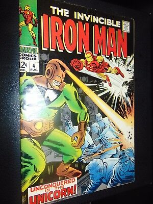 Iron Man #4 (Aug 1968, Marvel) High grade White Pages