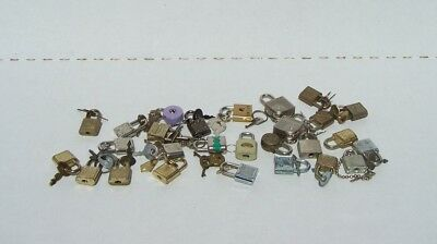 LOT of 28 Small Chest Locks and Keys