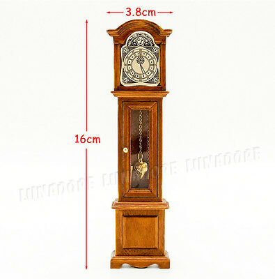 miniture vintage grandfather clock doll house barbie FREE SHIPPING