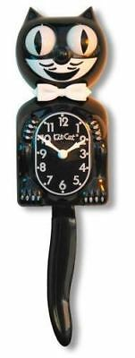 Kit-Cat Clock Black Gentleman Wall Clock Bow Tie Rolling Eyes Wagging Tail 15.5""