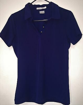 NIKE GOLF Men's Dri Fit Polo Shirt Navy Blue Size M Free Shipping