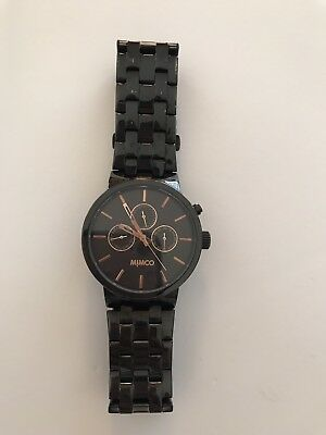 Mimco Black and Rose Gold Watch