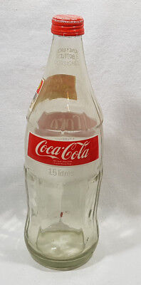 Coca Cola Classic Coke Bottle Glass 1.5L Empty with Cap
