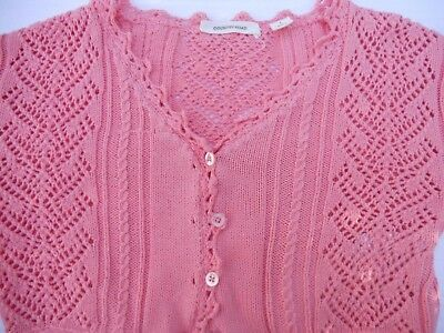 Girls Country Road apricot crop cardigan   Size 8-10