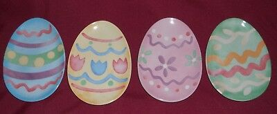 Longaberger Easter Egg Snack Plate Set Of 4 New In Box
