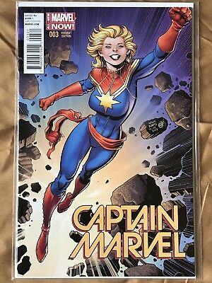 Captain Marvel #3 Vol. 7 1:25 Variant Arthur Adams 2014 NM