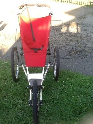 The Baby Jogger By Racing Strollers Inc. Red Canvas Child Seat U.S.A. Made