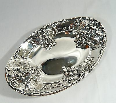 Antique Birks Regency 11 in. Silver Plate GRAPES Bowl EXCELLENT CONDITION c 1900