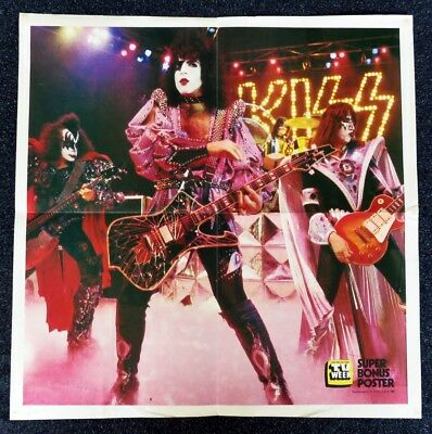 KISS POSTER 39cm x 39cm LIFT OUT FROM AUSTRALIA TV WEEK JULY 1980