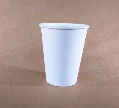 12 oz  250 WHITE Paper Coffee Cup/Disposable Hot Cups only - No LIDS