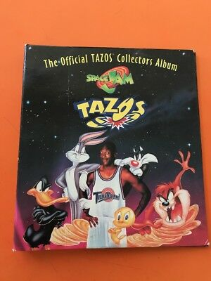 TAZO THE OFFICIAL COLLECTORS ALBUM Space Jam Pages And Printed Sheets, Fair Cond