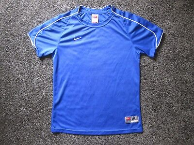 Nike Boy's FIT DRY, Short Sleeve Athletic T-Shirt Blue Size XL