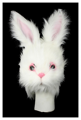 HMS Furry Bunny Mask, White, One Size