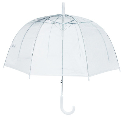 RainStoppers W3465 Clear PVC Dome Umbrella