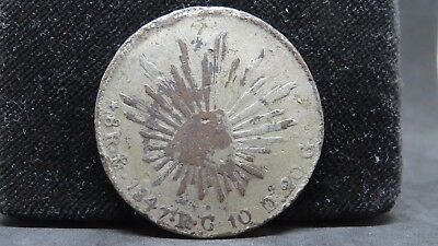 8 Reales Mexico 1847 Mo RG Struck on Copper, CONTEMPORARY CCF