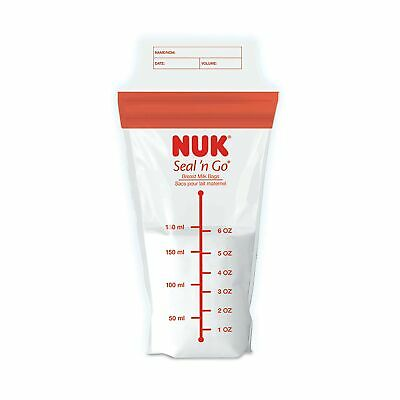 NUK Seal N Go Breast Milk Bags, 100 Count