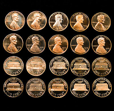 1970-1979S Proof Lincoln Cent Decade Set - High Quality! - 10 Coins