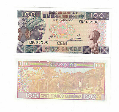 Guinea / Africa, 100 Francs, 1998, P-35 Uncirculated ( #877)