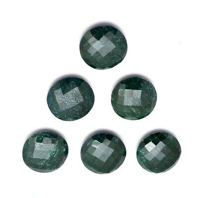 9 Pcs Lot of Faceted Dyed Emerald Round Shape Approx 12mm Loose Gemstones
