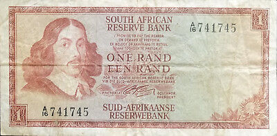South Africa 1966 1 Rand World Paper Money