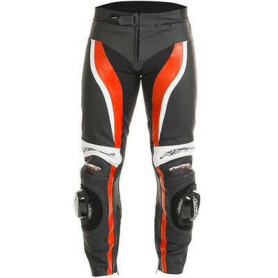 RST Tractech Evo II 1444 Leather Motorcycle Trousers Flo Red